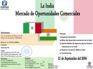 La India  Mercado de Oportunidades Comerciales