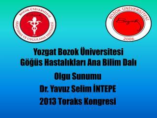 Yozgat Bozok Üniversitesi Göğüs Hastalıkları Ana Bilim Dalı