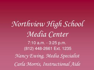 Northview High School Media Center