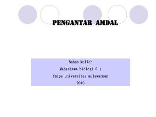 PENGANTAR  AMDAL