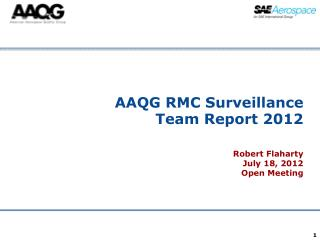 AAQG RMC Surveillance Team Report 2012