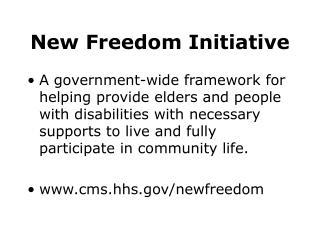New Freedom Initiative