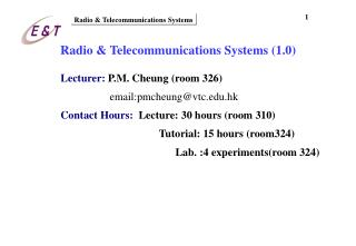 Radio & Telecommunications Systems (1.0)