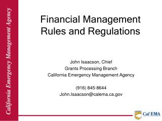 Financial Management Rules and Regulations