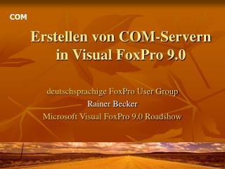 Erstellen von COM-Servern in Visual FoxPro 9.0
