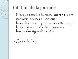 Citation de la journée