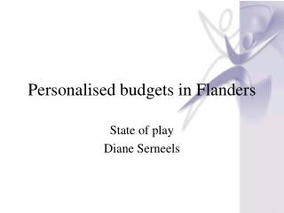 Personalised budgets in Flanders