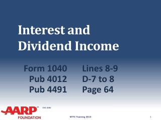 Interest and Dividend Income