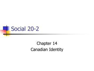 Social 20-2