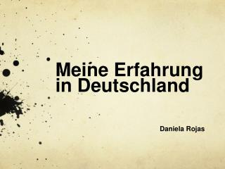 Meine Erfahrung in Deutschland