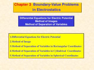 Chapter 3   Boundary-Value Problems                   in Electrostatics