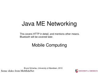 Java ME Networking