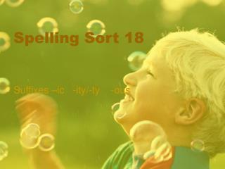 Spelling Sort 18
