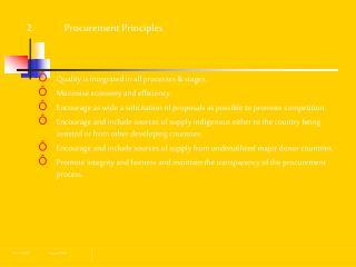 2.  Procurement Principles