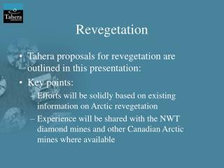 Revegetation