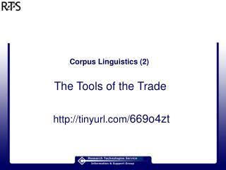 Corpus Linguistics (2)