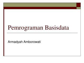 Pemrograman Basisdata