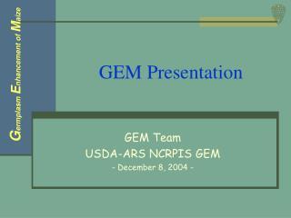 GEM Presentation