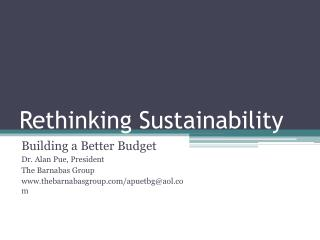 Rethinking Sustainability