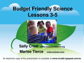 Budget Friendly Science Lessons 3-5
