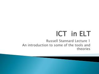 ICT  in ELT