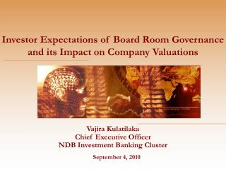 Vajira Kulatilaka Chief Executive Officer NDB Investment Banking Cluster
