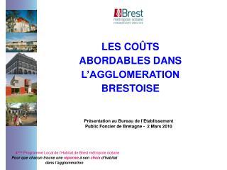 4 ème  Programme Local de l'Habitat de Brest métropole océane