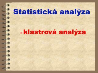 Statistická analýza