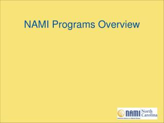 NAMI Programs Overview