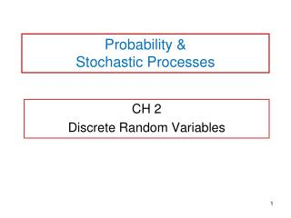 Probability & Stochastic Processes