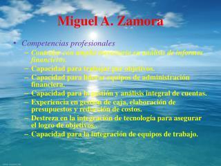 Miguel A. Zamora