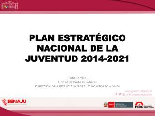 PLAN ESTRATÉGICO NACIONAL DE LA JUVENTUD 2014-2021