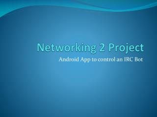 Networking 2 Project