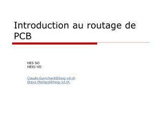 Introduction au routage de PCB