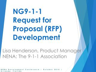 NG9-1-1 Request for Proposal (RFP) Development