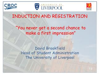 INDUCTION AND REGISTRATION