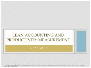 Lean Accounting and Productivity Measurement