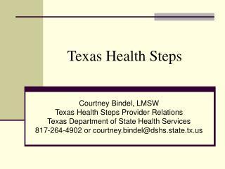 Texas Health Steps