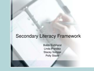 Secondary Literacy Framework