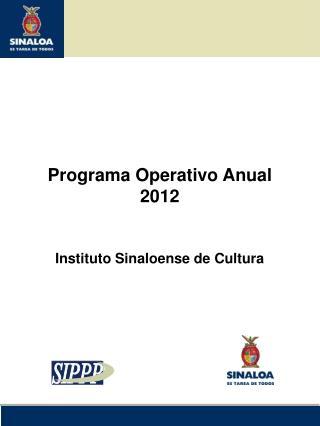 Programa Operativo Anual 2012