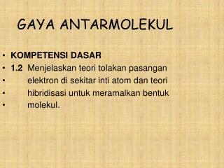 GAYA ANTARMOLEKUL