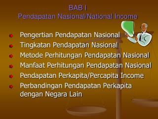 BAB I  Pendapatan Nasional/National Income