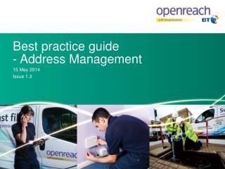 Best  p ractice  g uide - Address Management