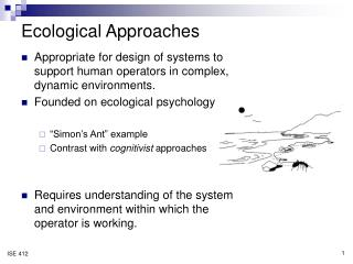 Ecological Approaches