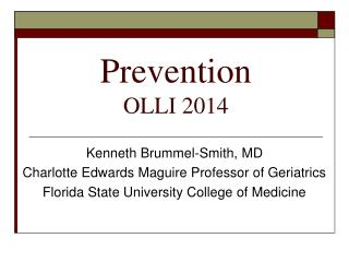 Prevention OLLI 2014