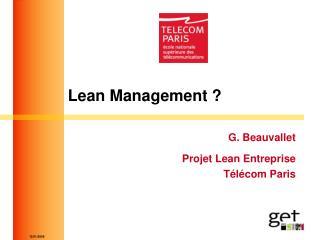 Lean Management ?