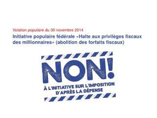 Votation populaire du 30 novembre 2014