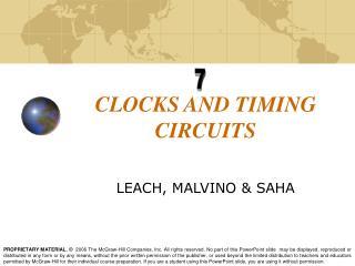 CLOCKS AND TIMING CIRCUITS