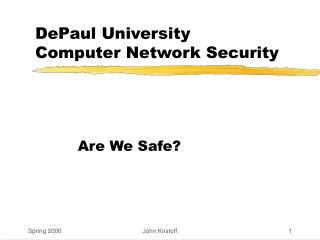 DePaul University Computer Network Security