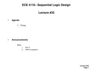 ECE 4110� Sequential Logic Design